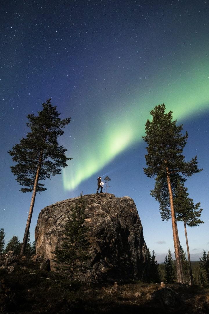 Aurora Borealis Juha Tuunanen Aurora Village Ivalo Lapland Finland. Photo by Alexander Kuznetsov / All About Lapland.