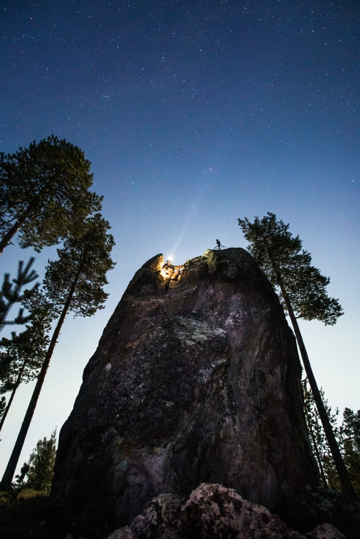 Stargazer Juha watching the starry skies in Ivalo Lapland Finland photo by Alexander / Kuznetsov Aurora Hunting.
