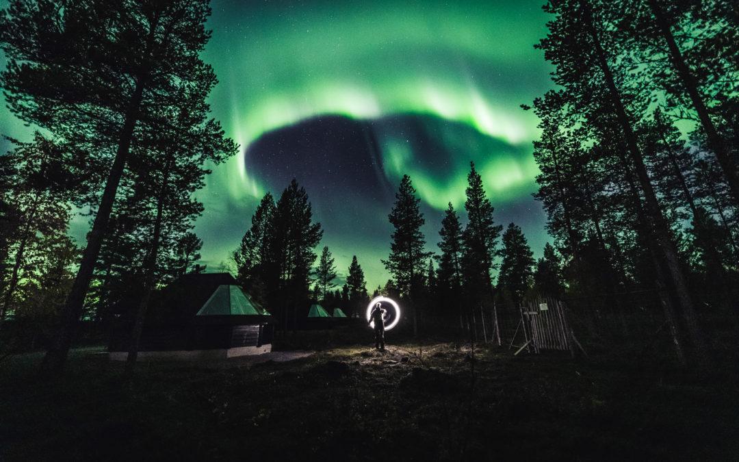 Aurora Storm in Ivalo Lapland Finland 27.09.2019
