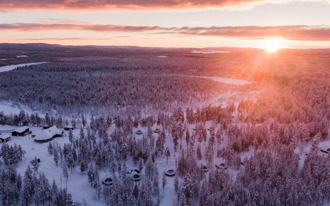 Winter vacation at Aurora Village Ivalo Finland