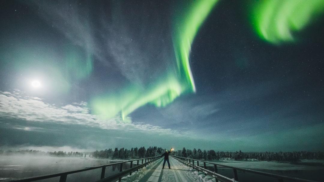 Northern Lights Tour with Aurora Village Ivalo Lapland Finland.